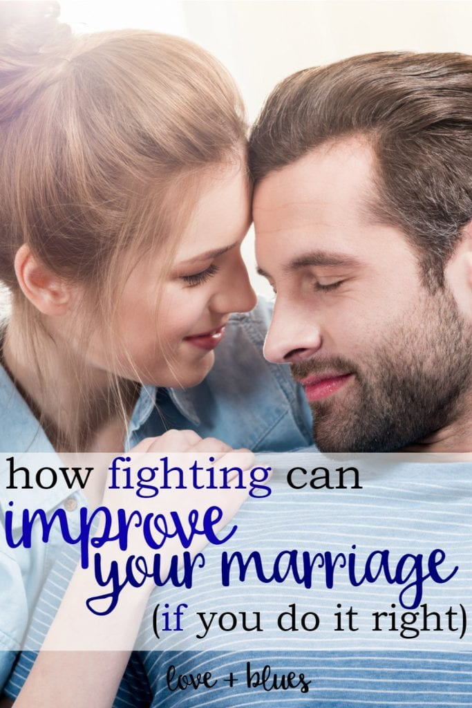 Totally agree! Fighting ISN'T bad - it's NOT fighting that's bad for your marriage.