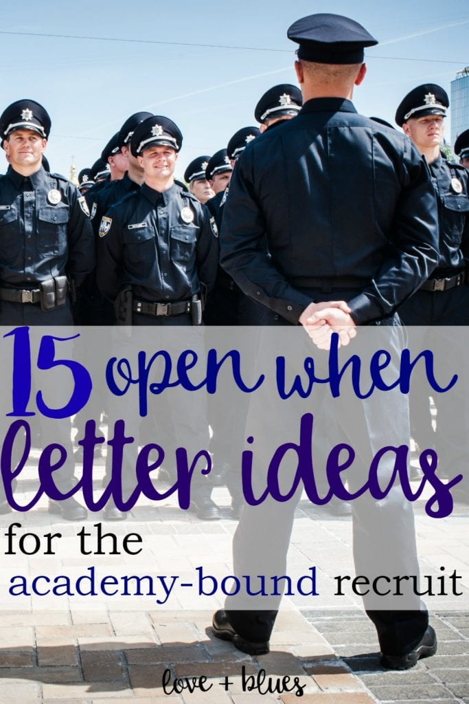 This is an awesome idea!  My boyfriend is going to the police academy in a few weeks and I'm super nervous... but I think I'll need to make some of these <3