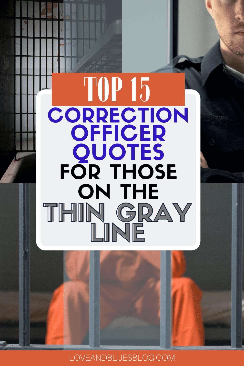 Great correction officer quotes! You don't find a lot of thin gray line support so this was awesome.