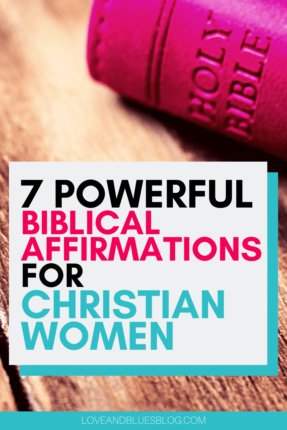 Amazing biblical affirmations based on SCRIPTURE to help strengthen the Christian woman! a MUST read in this day and age!